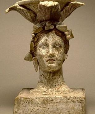 Greek - Incense Burner in the Form of a Female Head - Walters