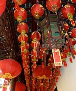 Red paper lanterns, Shanghai, 2012