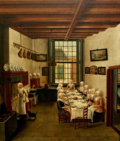 De keuken van het Oude Vrouwenhuis - C. de Jonker 1785 - Gorcums museum