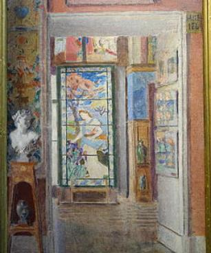 Arte Moderne by Eleanor Norcross, c. 1920, oil on canvas - Fitchburg Art Museum - DSC08886