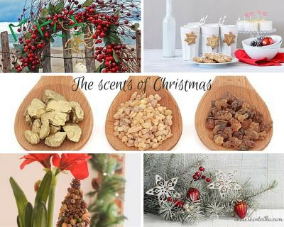 Scents of Christmas photo collage