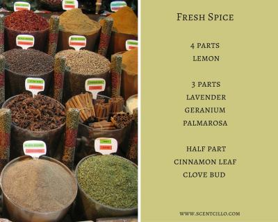 Fresh spice essential oil blend