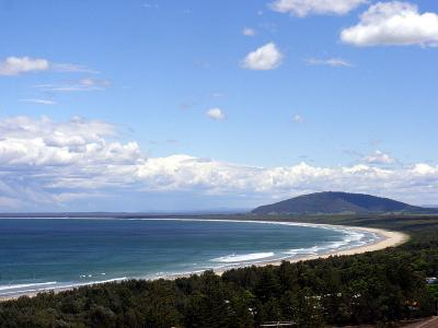 Seven Mile Beach and Mt Coolangatta; looking south from Gerroa NSW Australia.