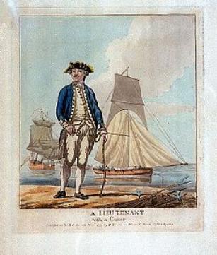 Lieutenant with Cutter 1777