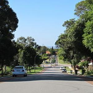 Davilak Street, Como, Perth, Australia, looking east.