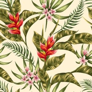 Tropical plant watercolour